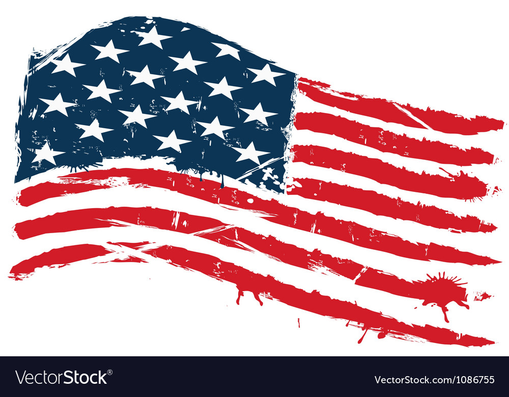 grunge usa flag royalty free vector image vectorstock