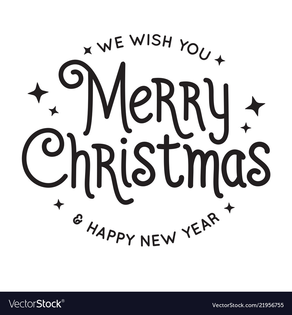 Southwest Merry Christmas And Happy New Year 2020 Pictures Free Merry christmas and happy new year lettering Vector Image