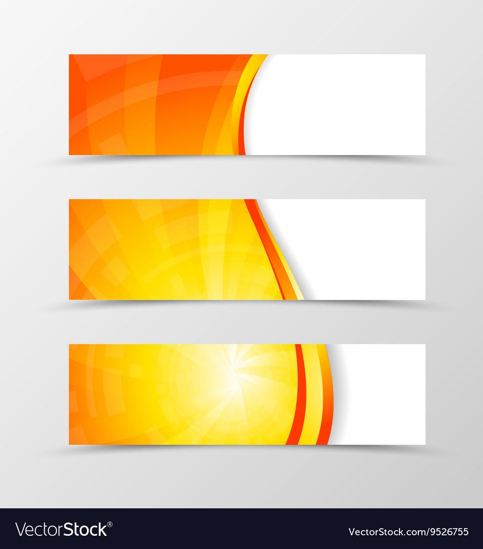 Set banner wave design