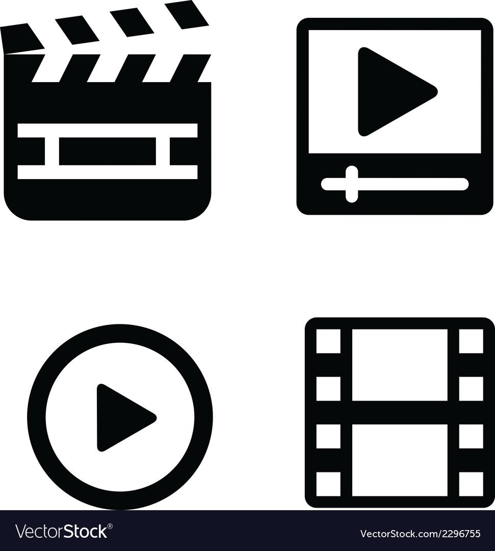 Set of movie icons