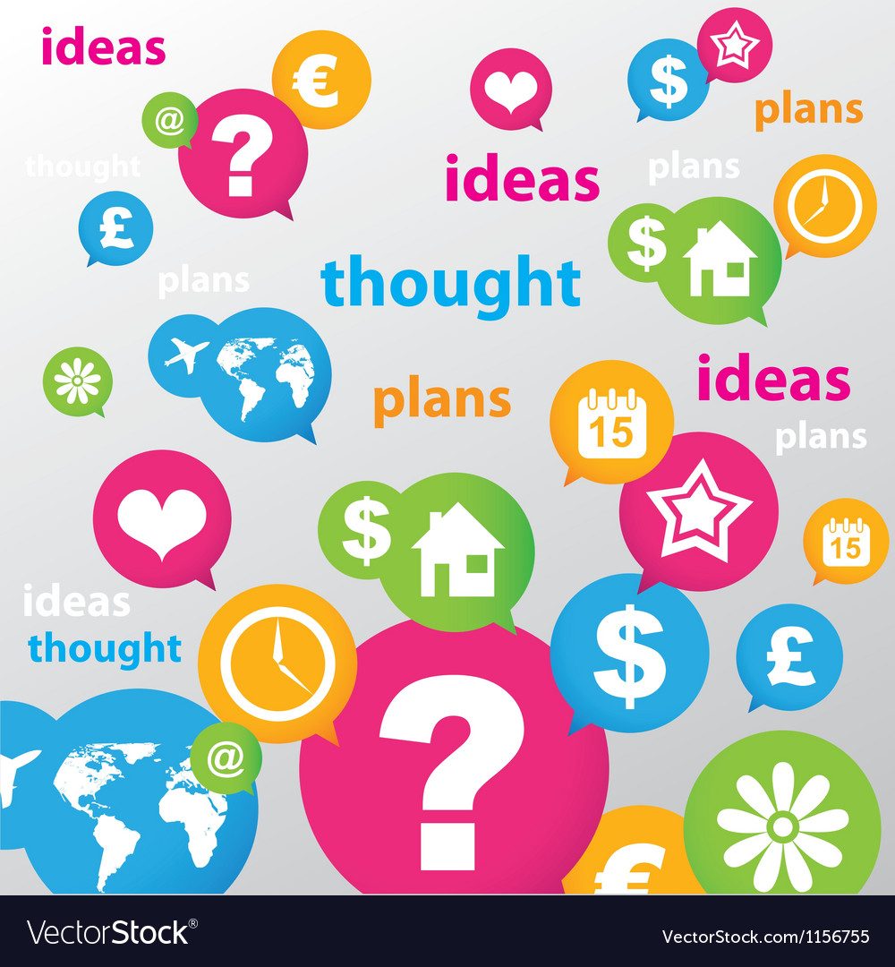 Thought ideas plans vector image