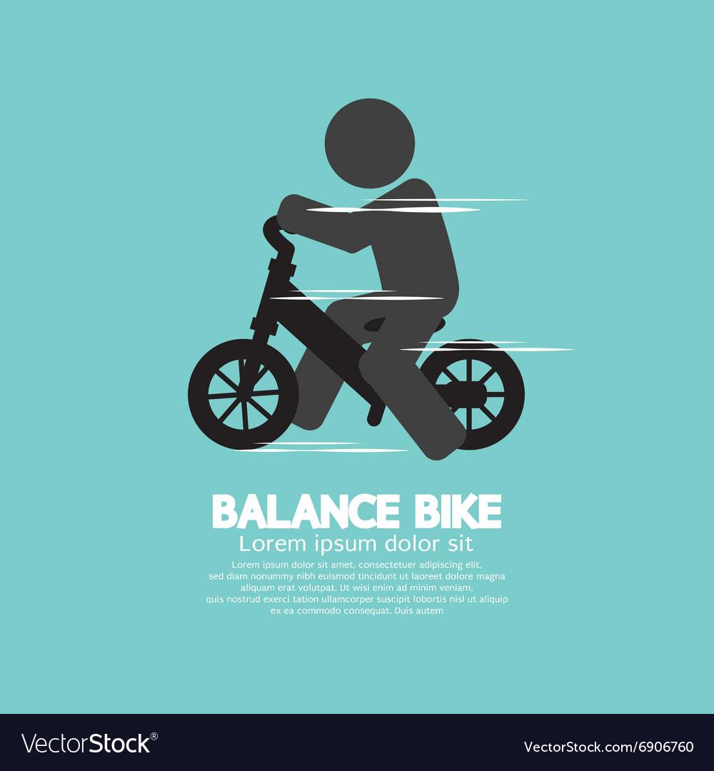 Balance Bike Black Symbol