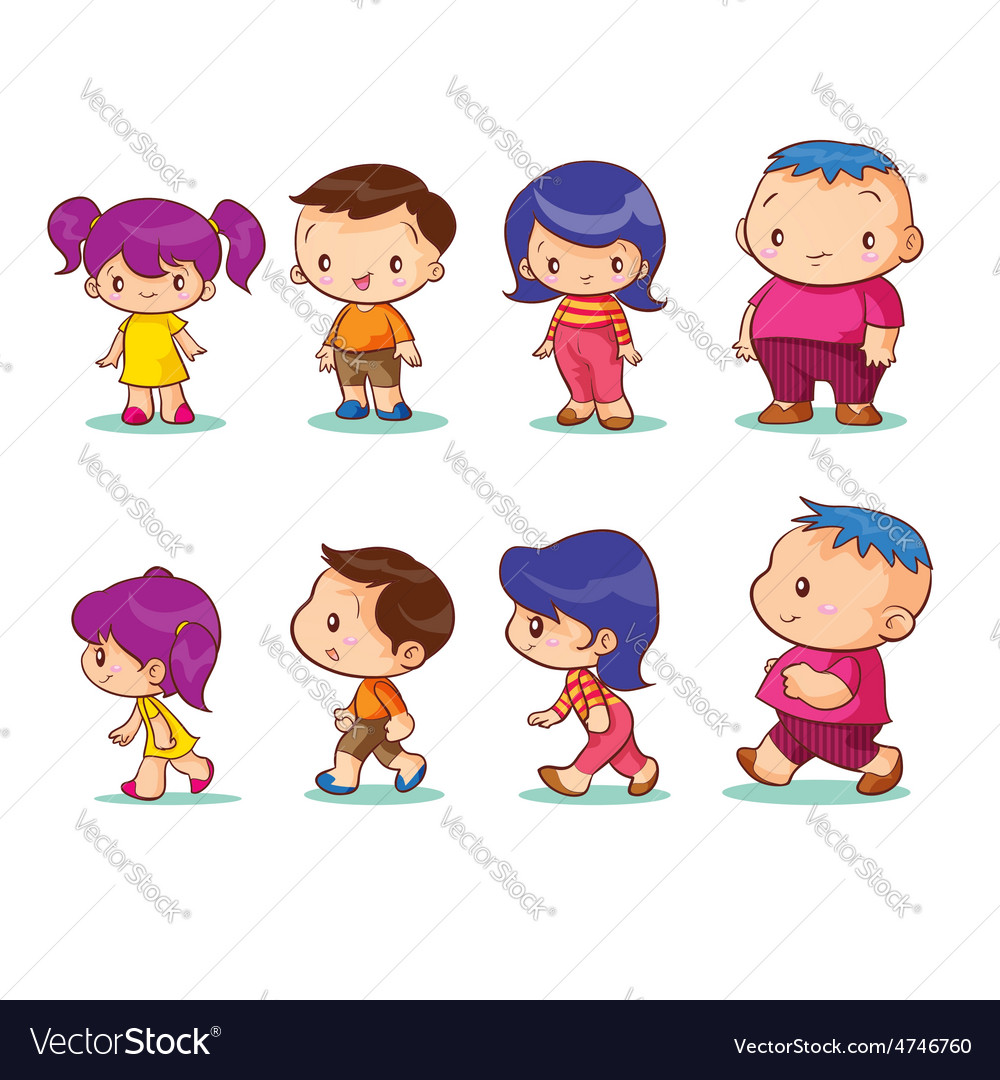 Boy girl character vector image