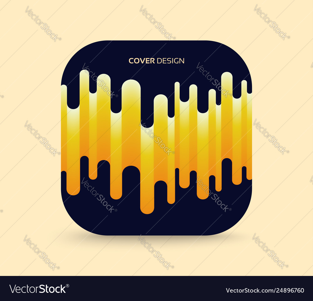 Cover design template abstract wavy background