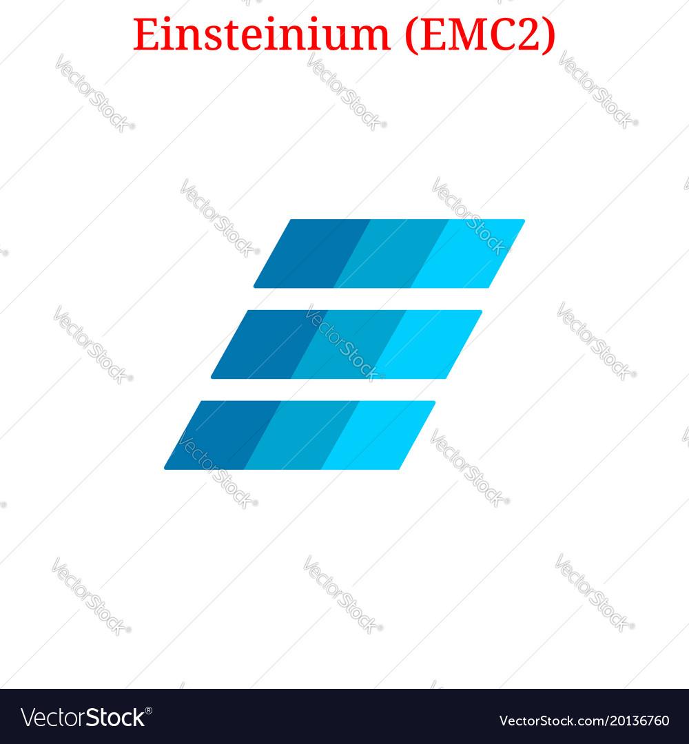 Einsteinium Emc2 Logo Royalty Free Vector Image