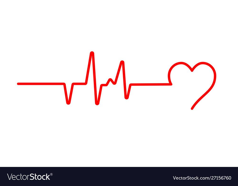 Heart beat pulse flat icon for medical apps