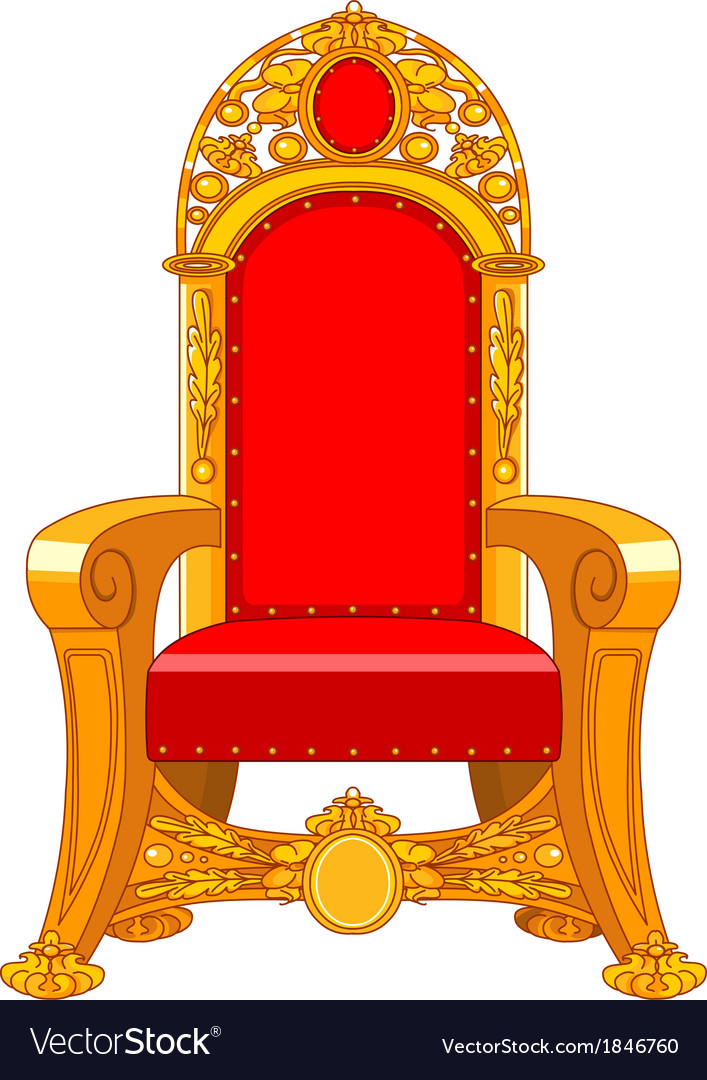 Old antique armchair vector image - Old Antique Armchair Royalty Free Vector Image