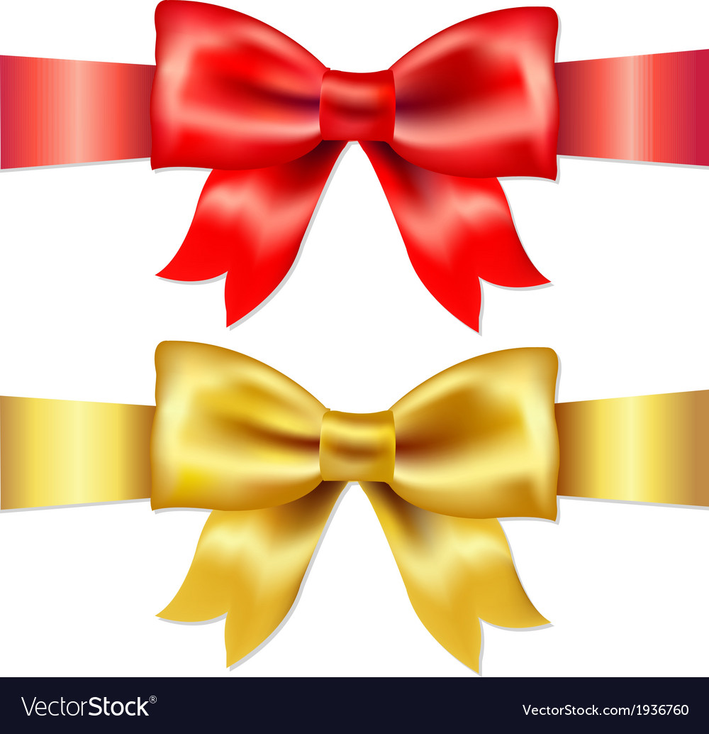 Red And Gold Gift Satin Bow