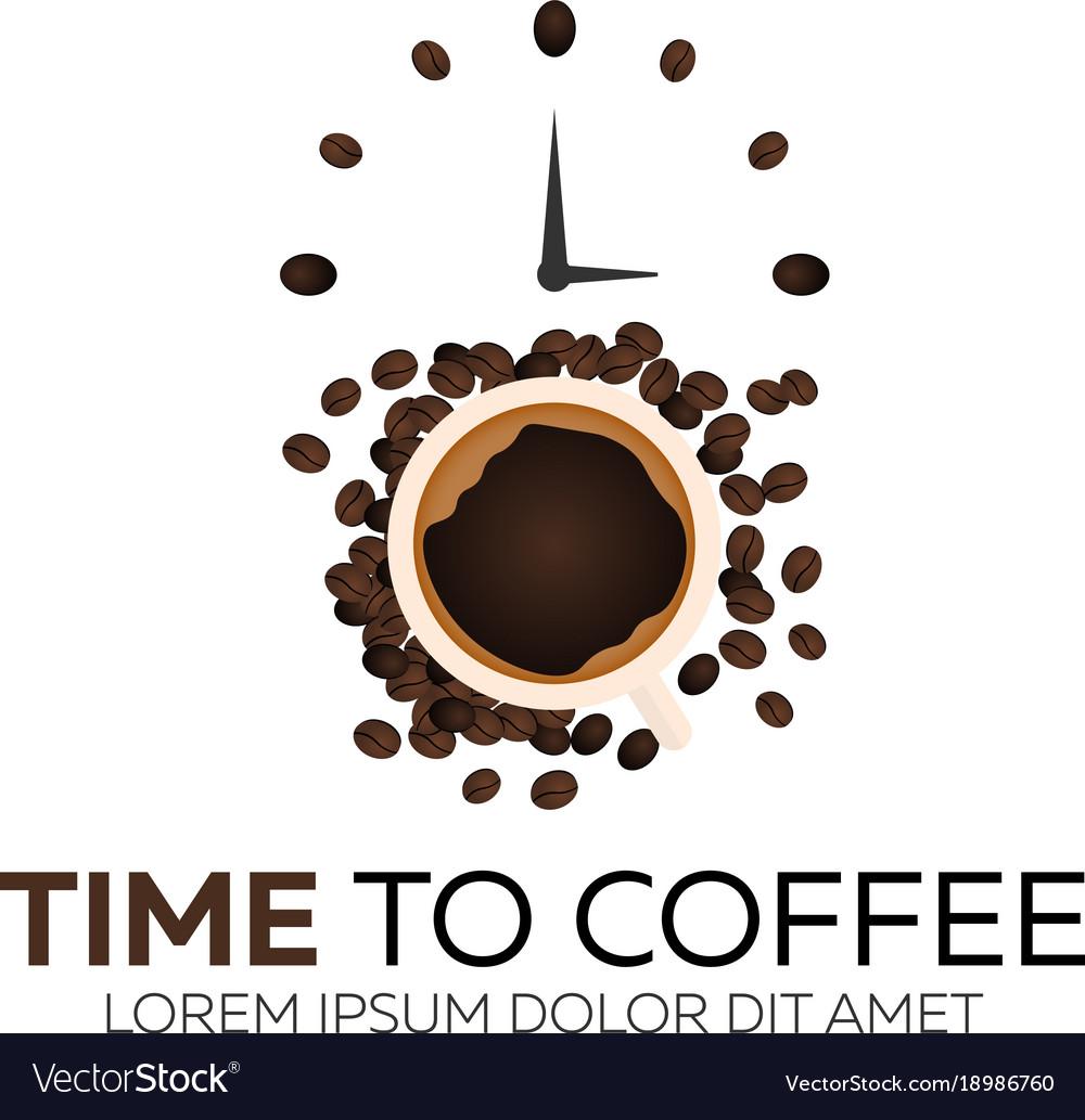 Time to coffee coffee watch flat
