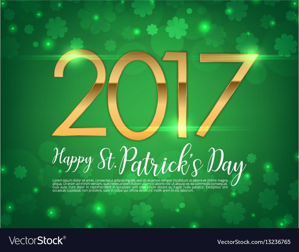 2017 text green clover