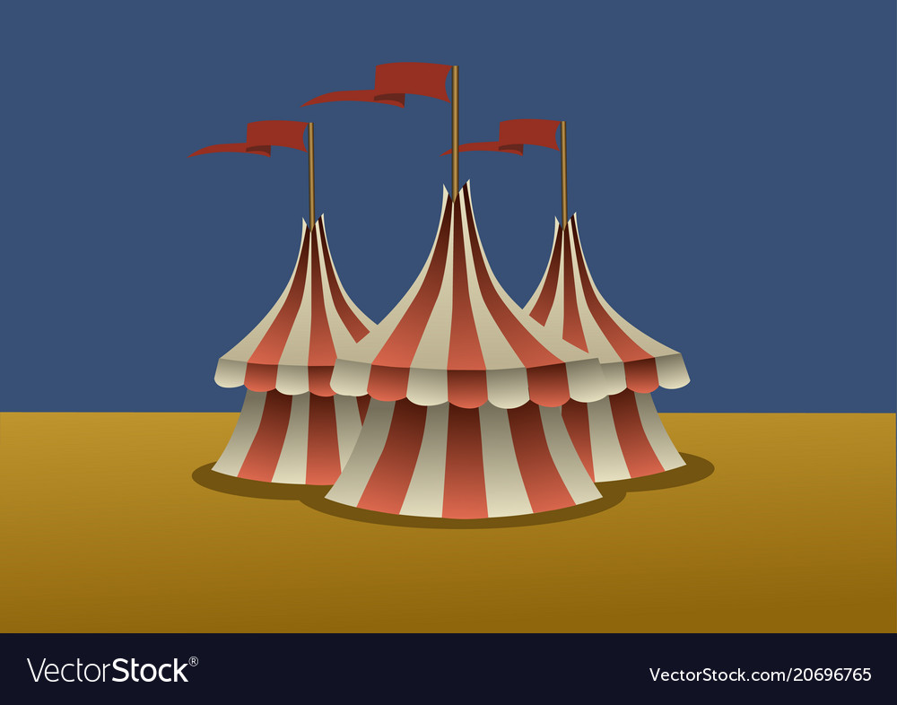 A group three circus tents