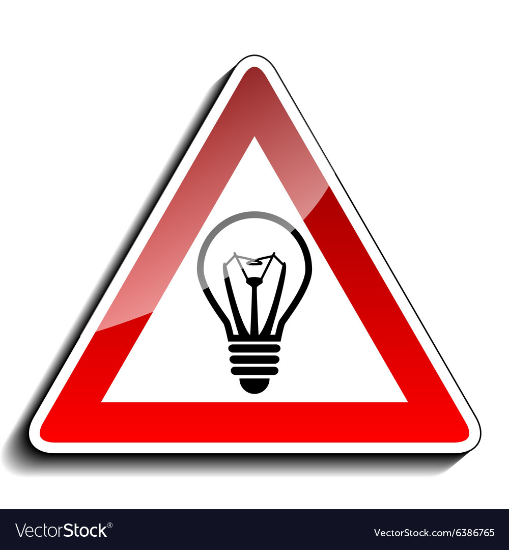 A warning sign ideas vector image