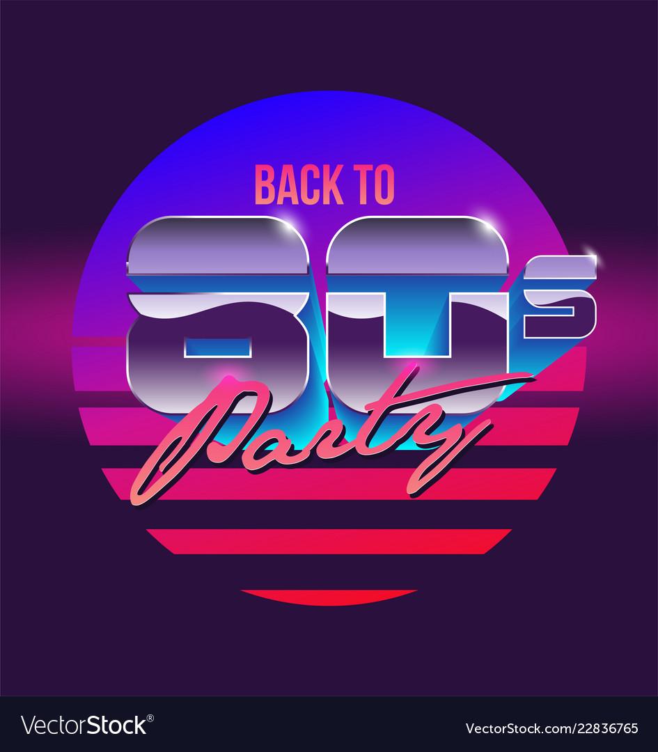 Back to 80s sign banner vintage