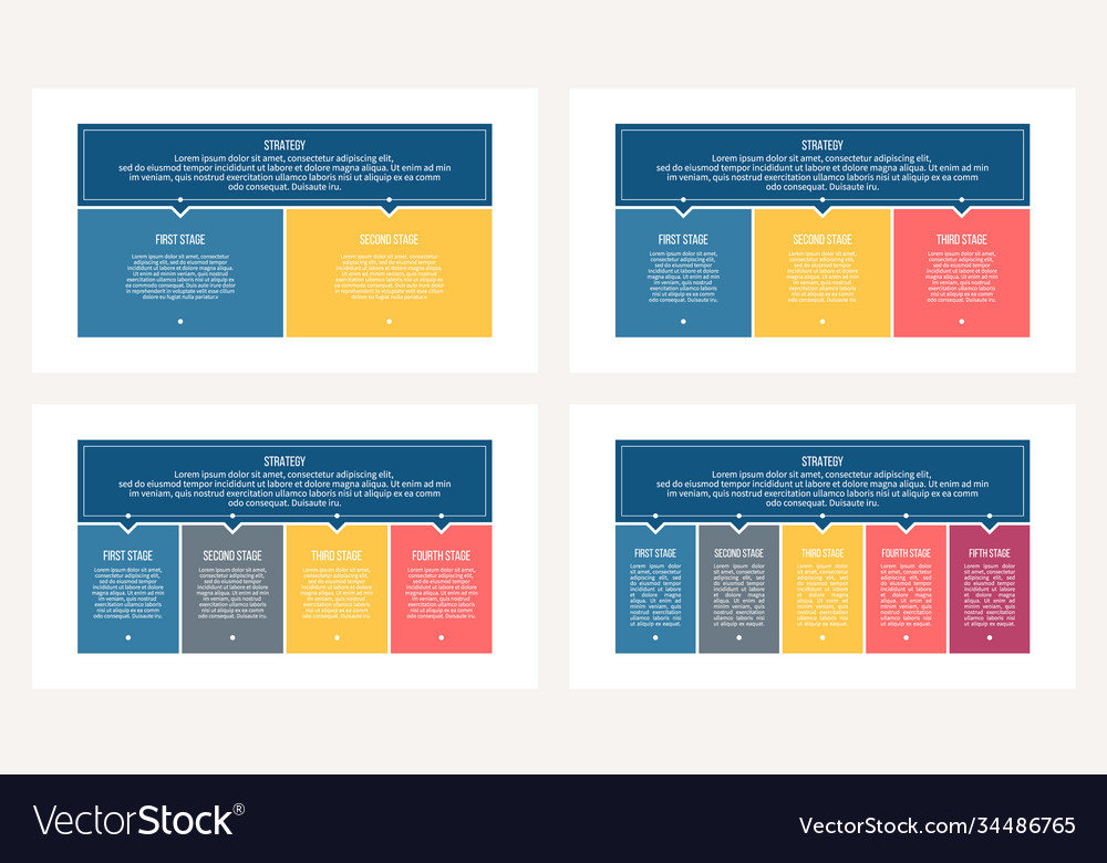Business process chart with 2 3 4 5 steps