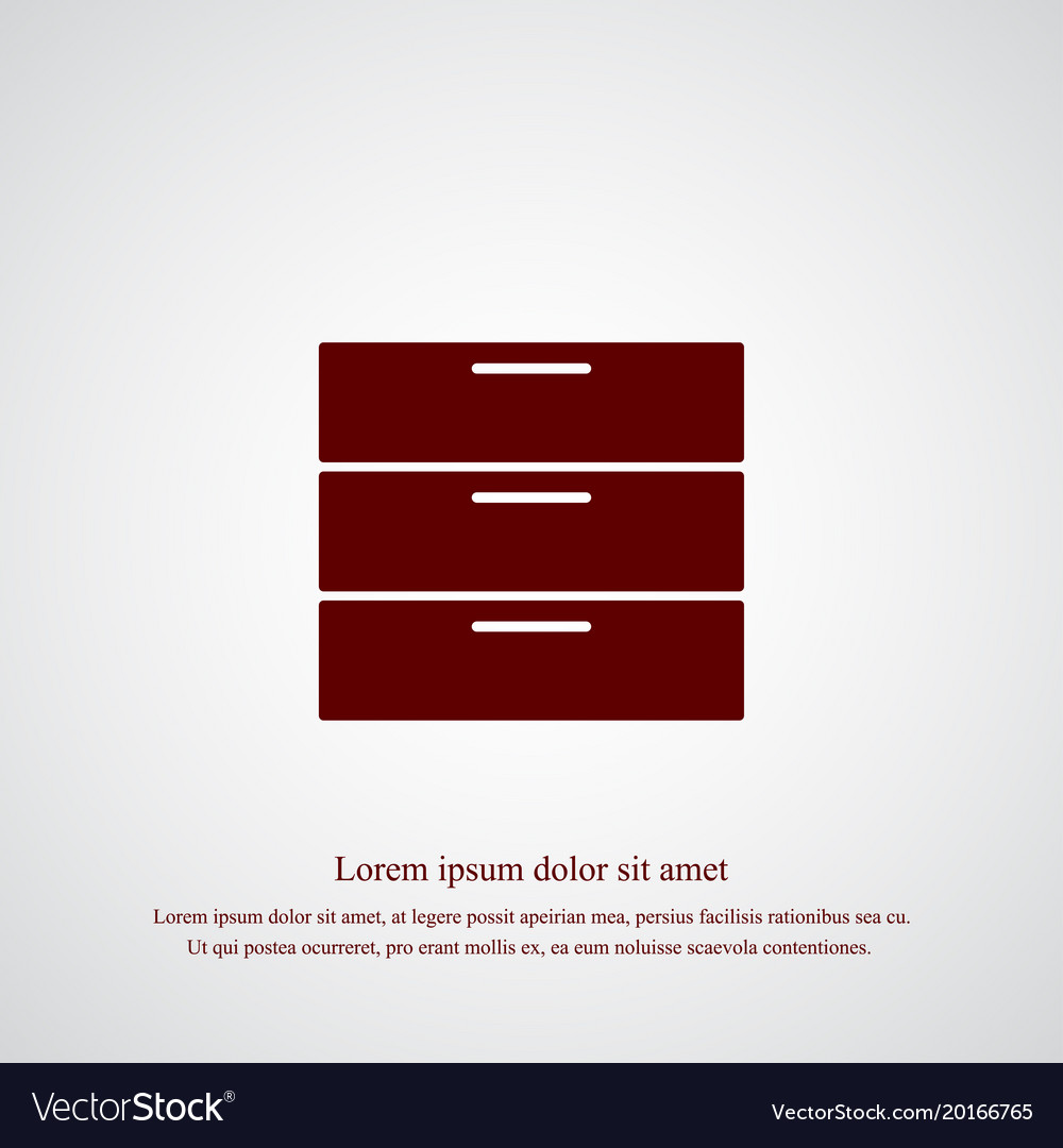 Chest of drawers icon simple