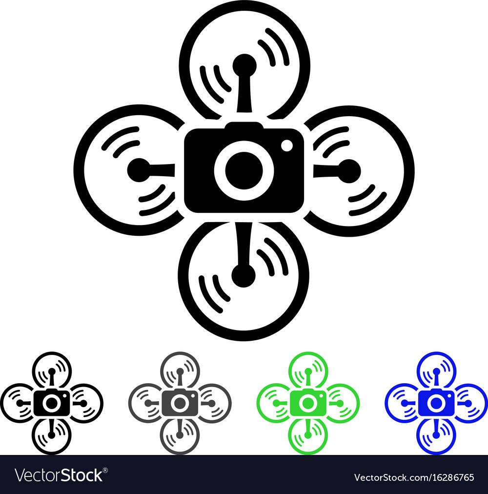 Drone camera flat icon vector image