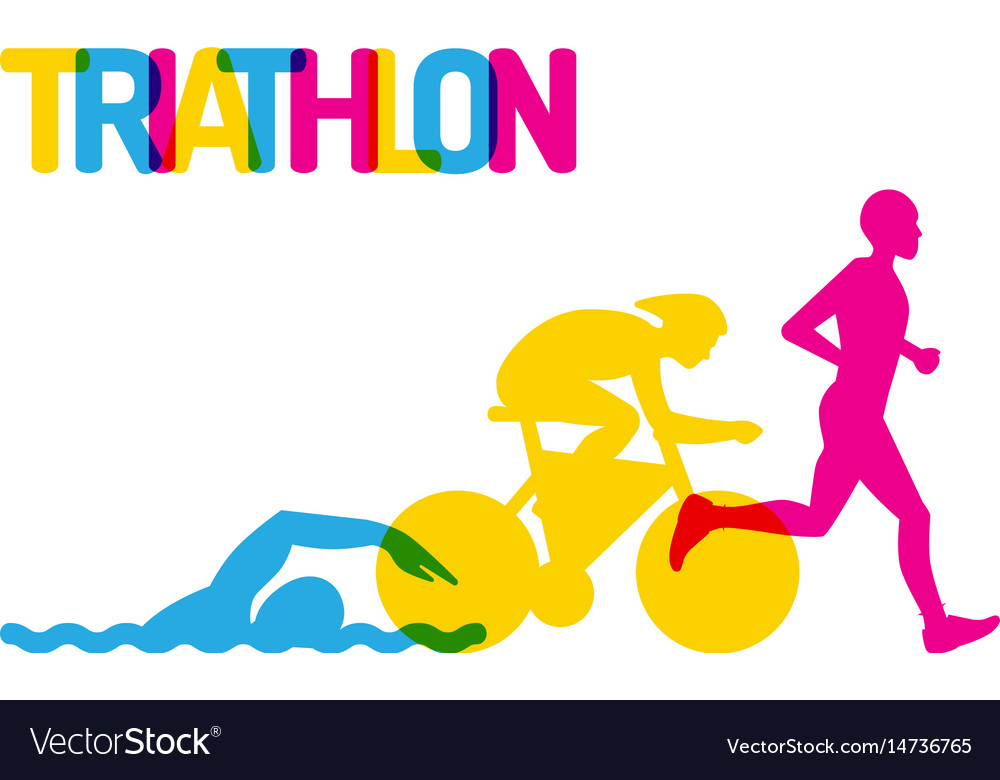 logo sport triathlon royalty free vector image