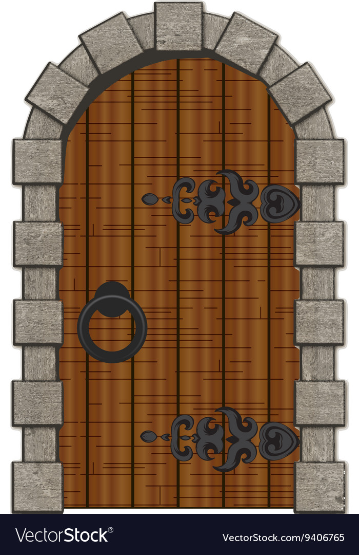 Old Wooden Vintage Doors Isolated Royalty Free Vector Image