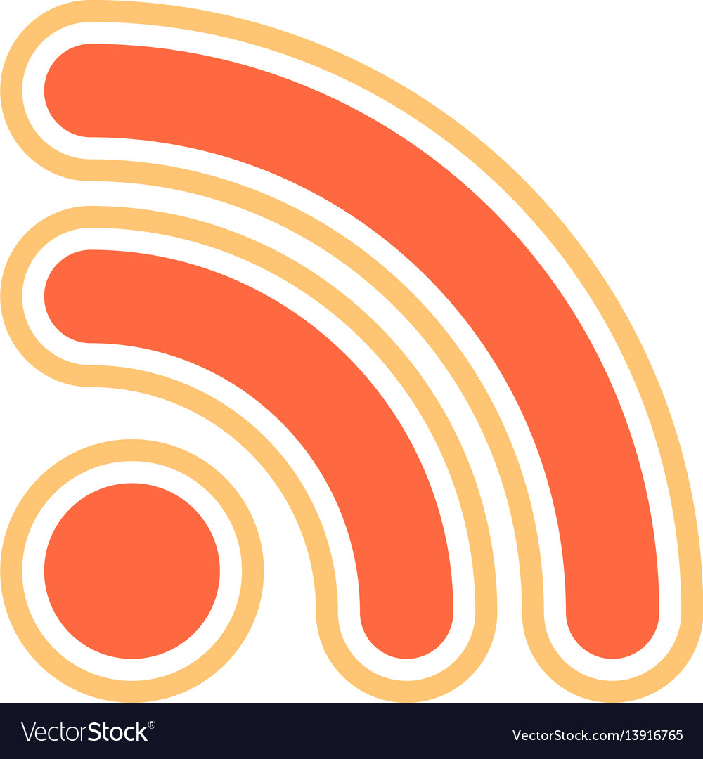 Rss sign or wi-fi signal icon