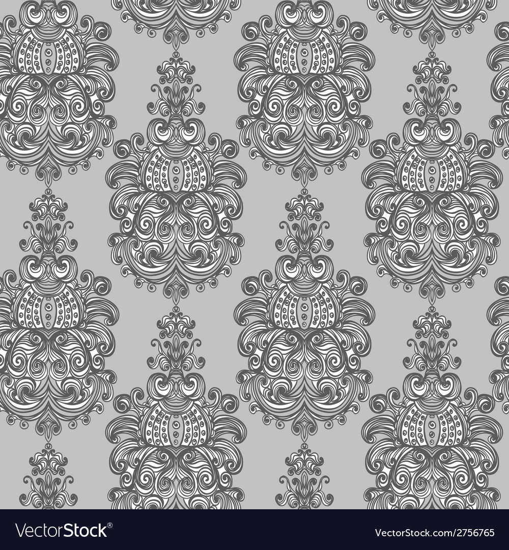 Seamless vintage baroque background
