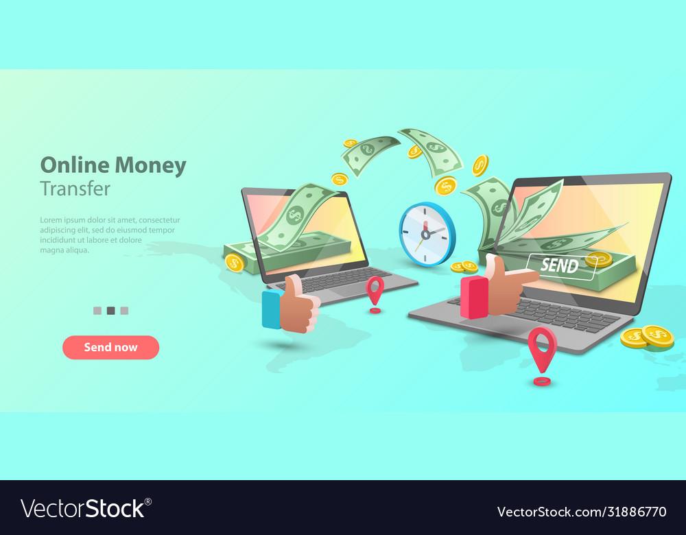 3d concept mobile money