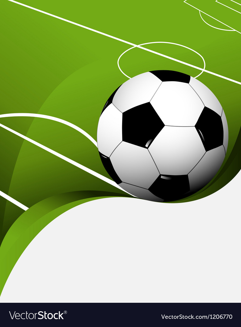Abstract Football Background Royalty Free Vector Image