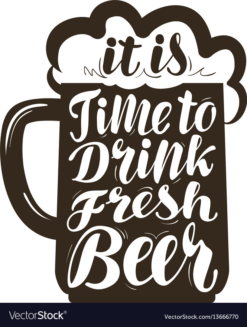 Beer ale label lettering calligraphy