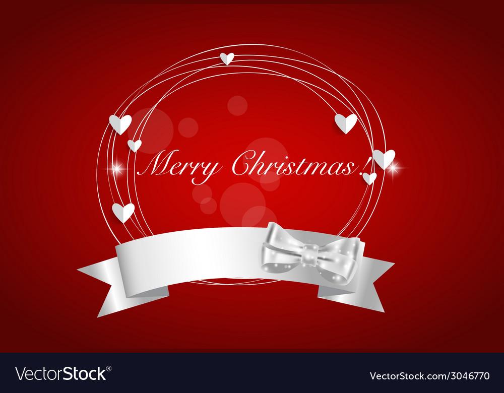 Christmas background with Shiny ribbon