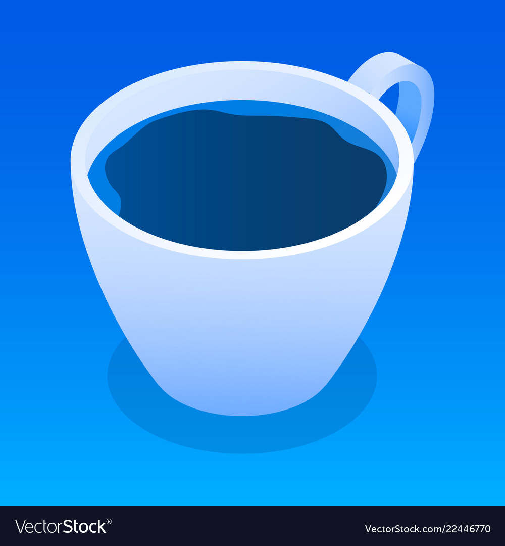 Cup of tea icon isometric style