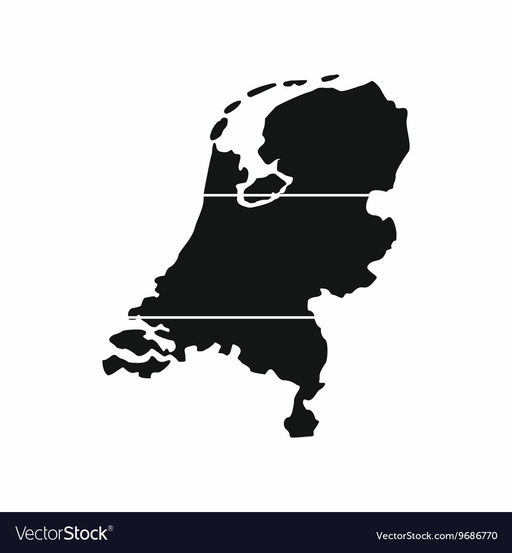 Holland map icon simple style