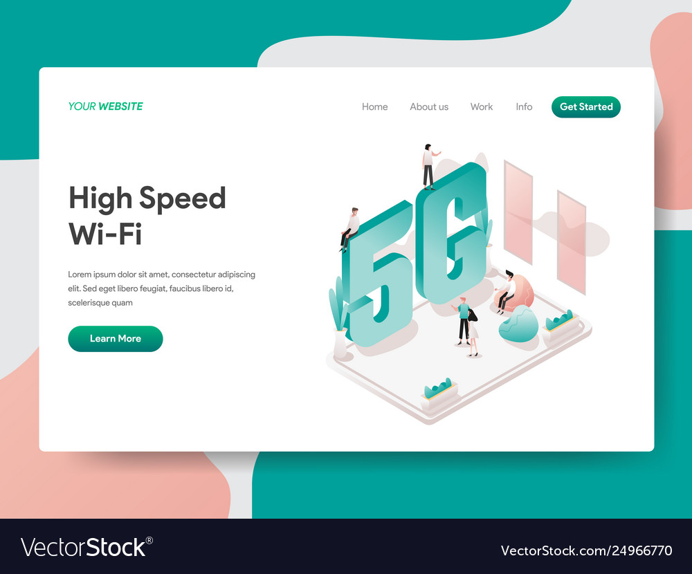 Landing page template high speed wi-fi