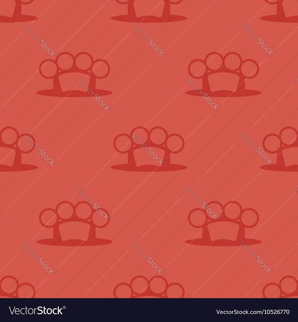Metal Knuckles Silhouette Seamless Pattern