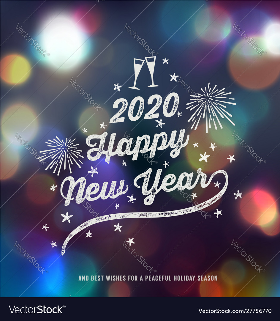 New year greeting design