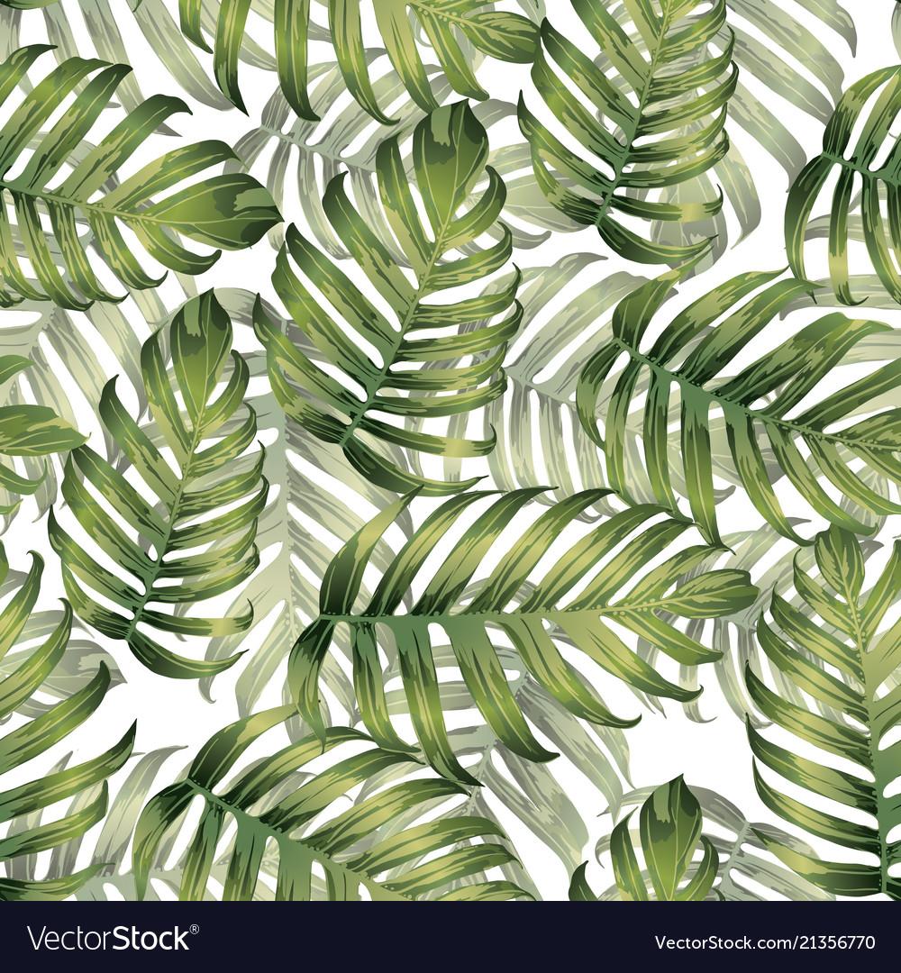 Palm monstera seamless pattern