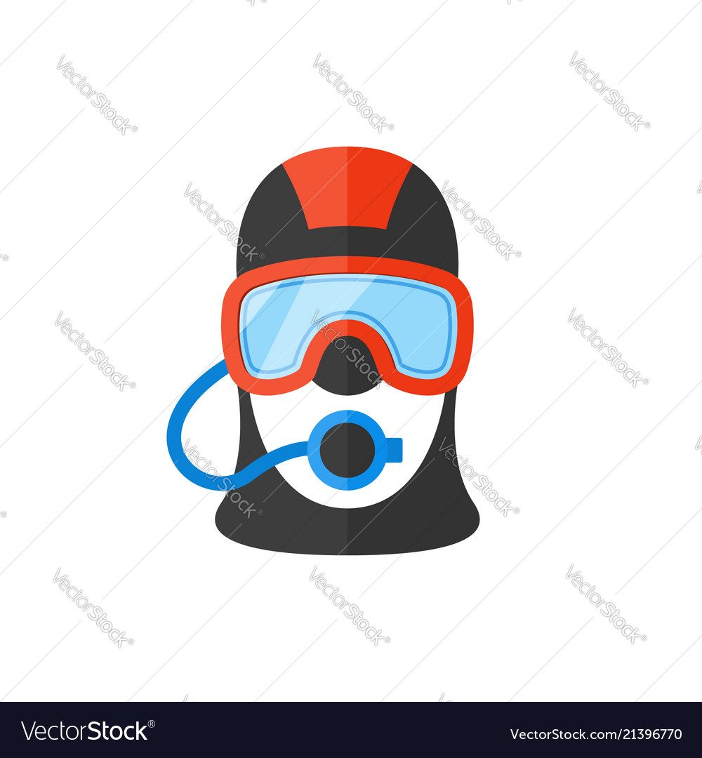 Portrait of a scuba diver in an professional