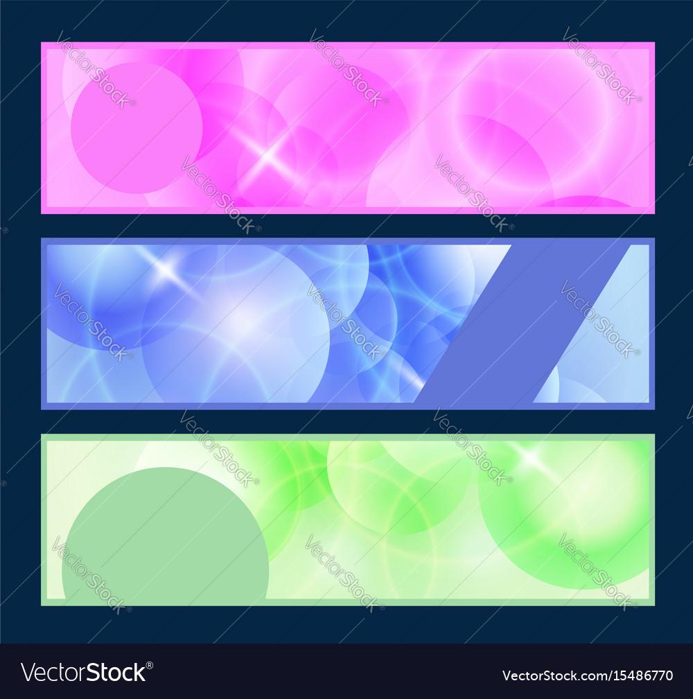 Web header set vector image