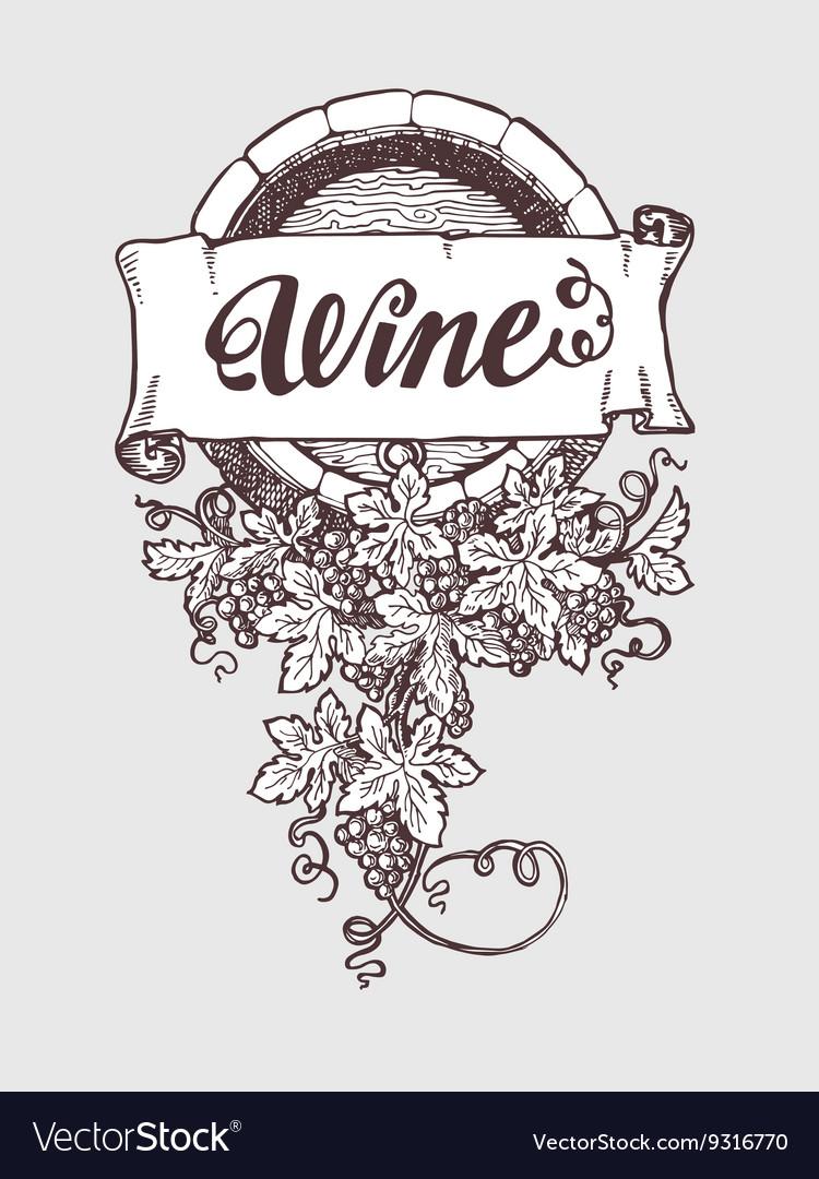 Wine and winemaking vintage barrel