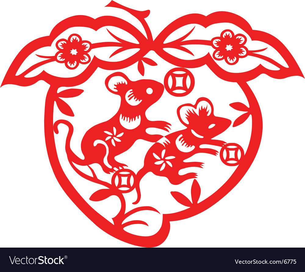 Chinese New Year Rat Royalty Free Vector Image