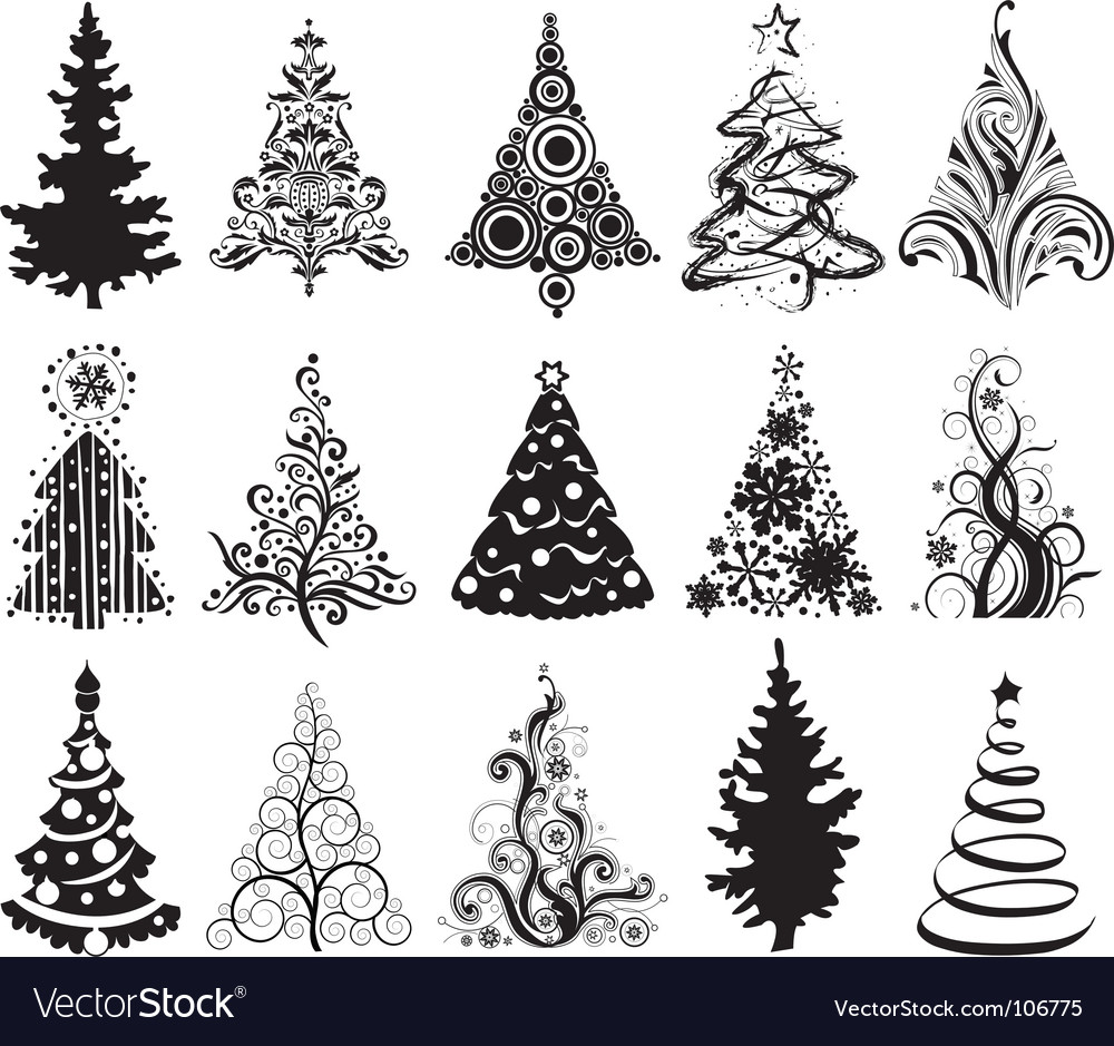 Christmas Tree Vector.Christmas Trees