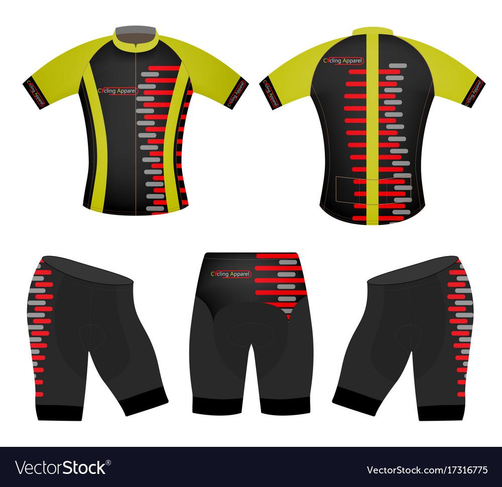 c68156c88 Cycling apparel sports t-shirt Royalty Free Vector Image