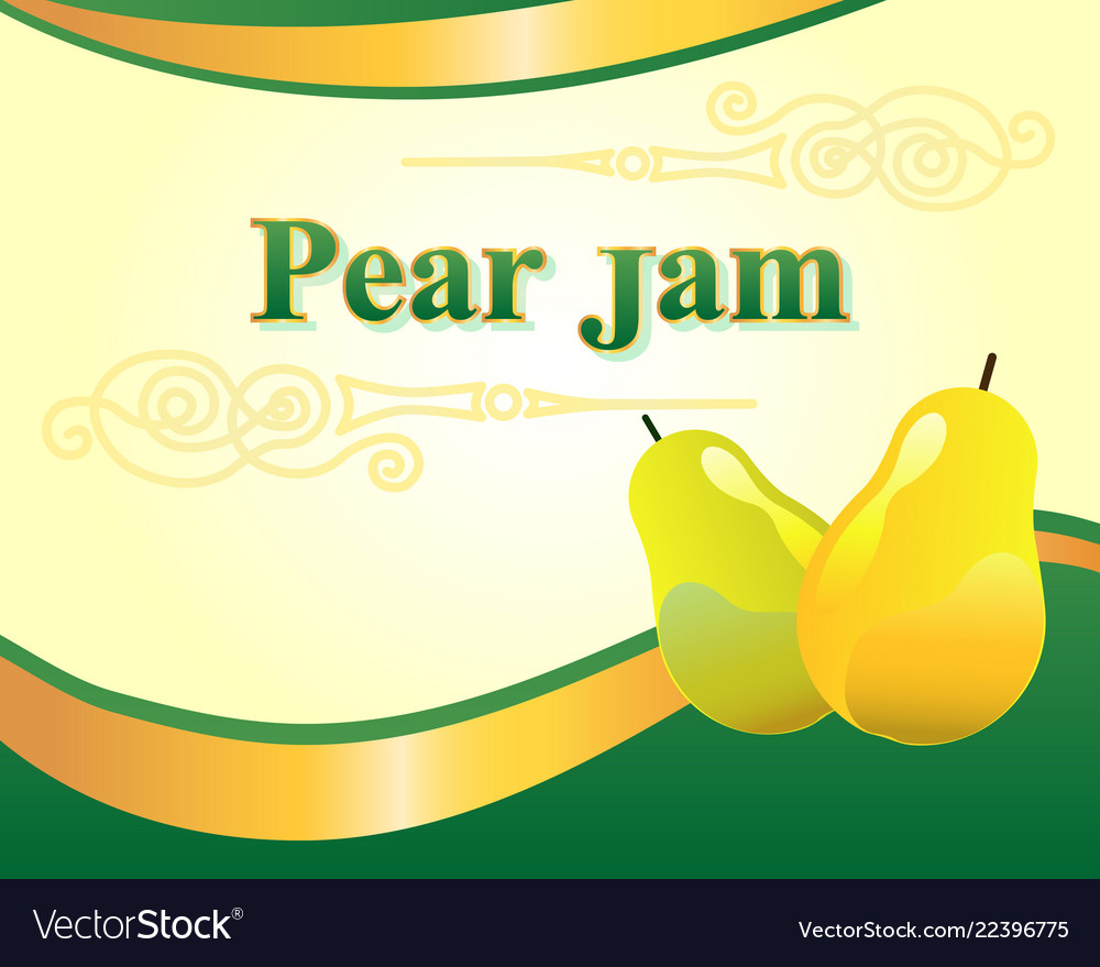 pear jam label design template royalty free vector image