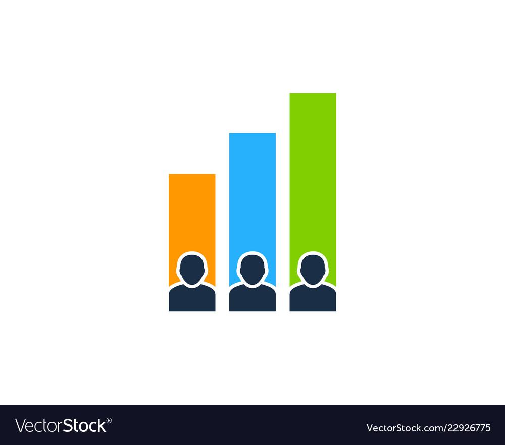 People stock market business logo icon design