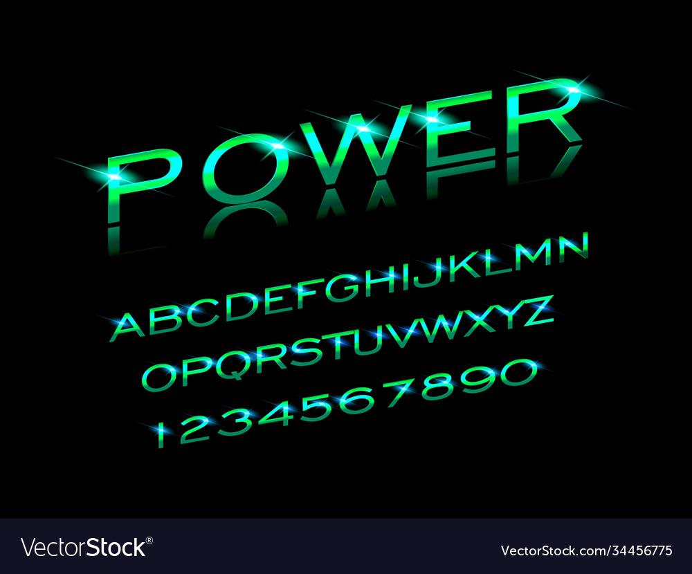 Power font in sport style