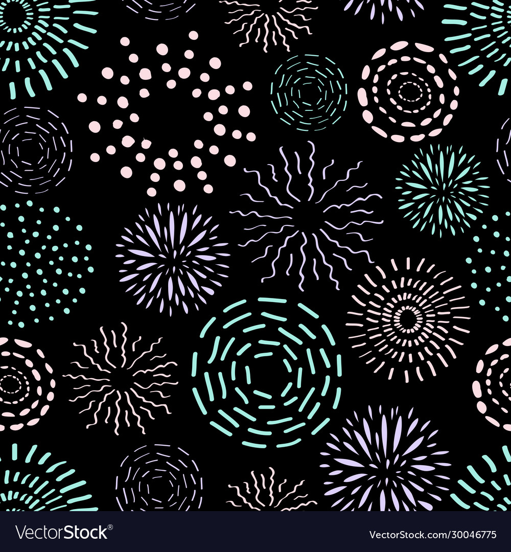 Seamless pattern with different round ink