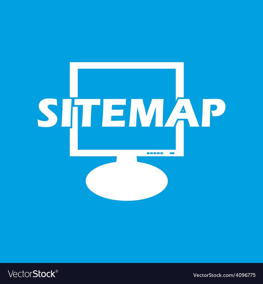 Sitemap white icon