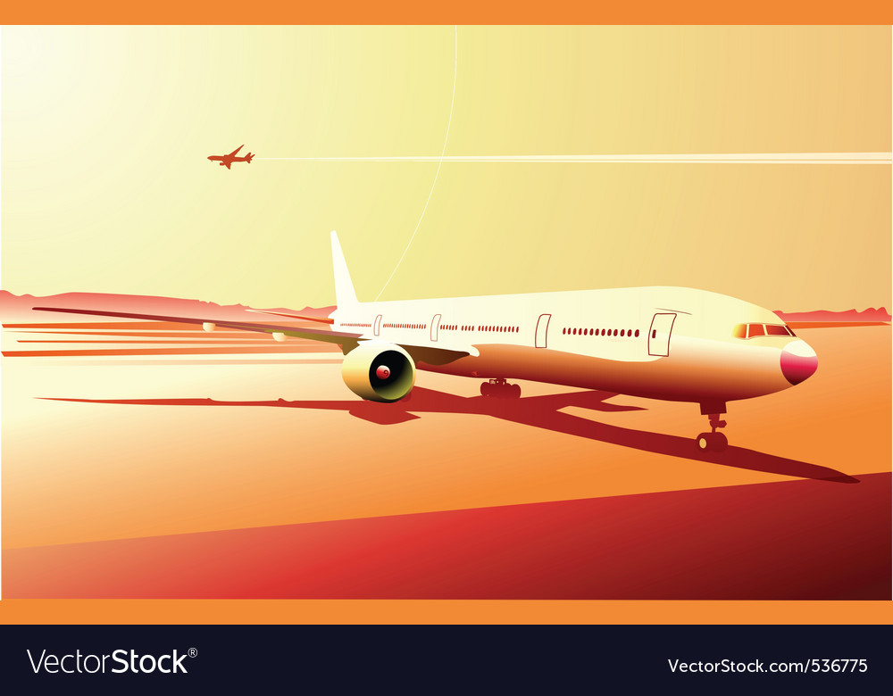 Vector illustration of a detailed airplane on the