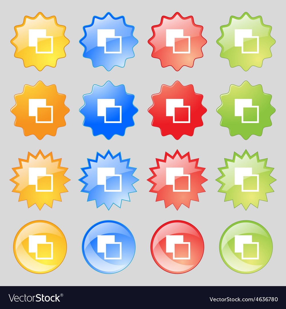 Active color toolbar icon sign Big set of 16