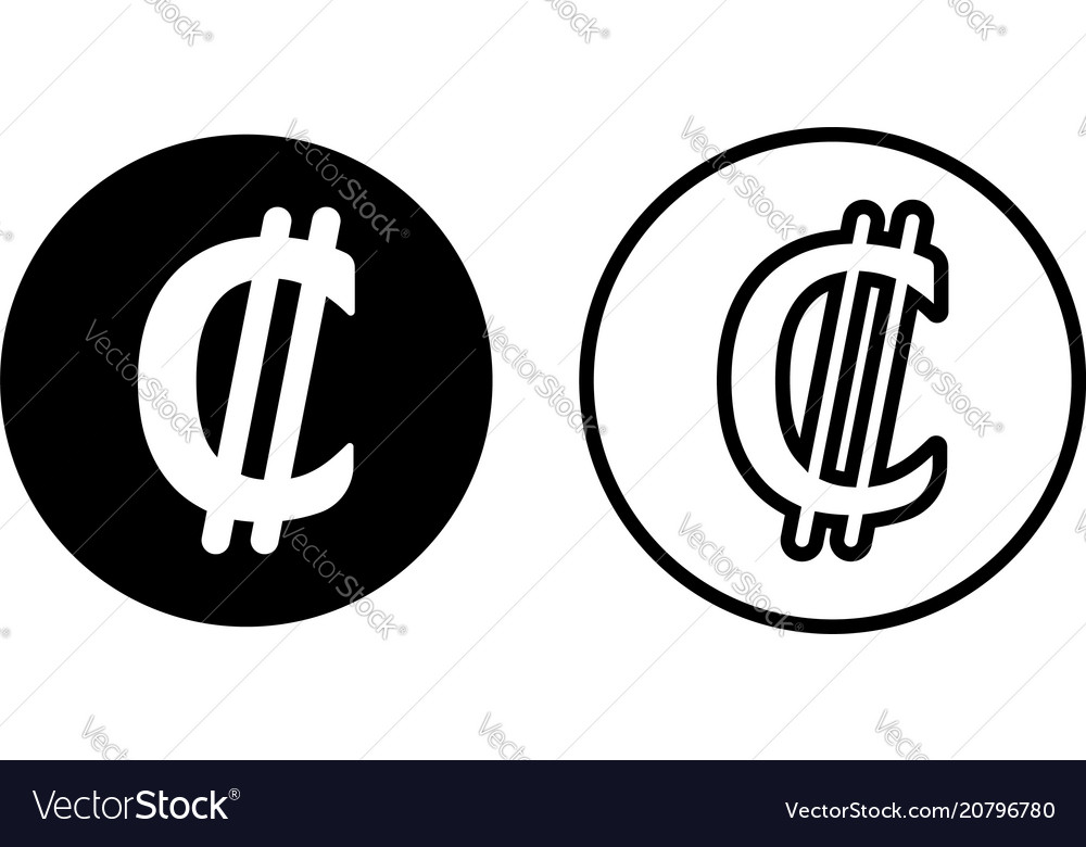 Costa Rica Colon Currency Symbol Icon Royalty Free Vector