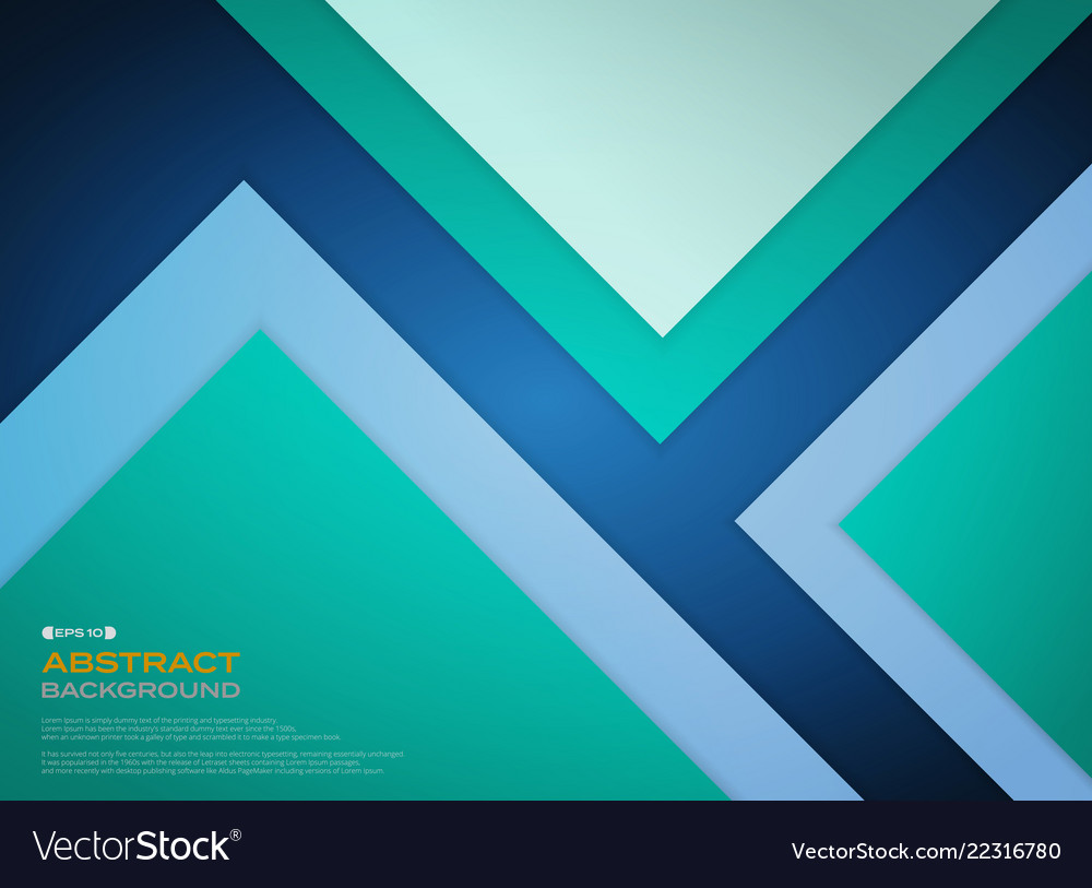 Gradient green blue paper cut background with