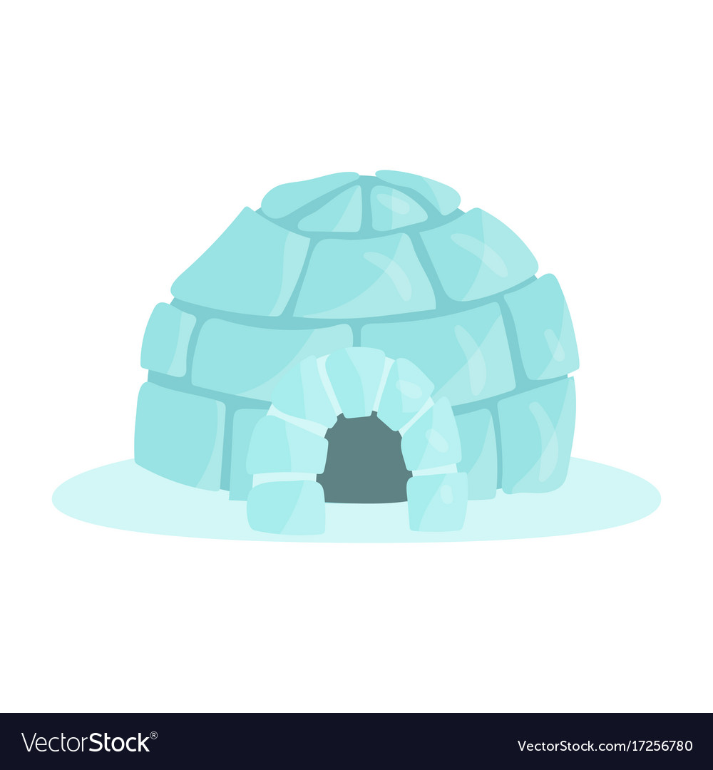 Igloo icy cold house built from ice blocks